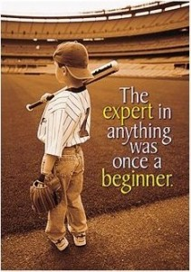 Winner was once a beginner